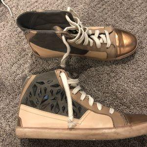 Sam Edelman Holden High Top Sneakers - Size 8